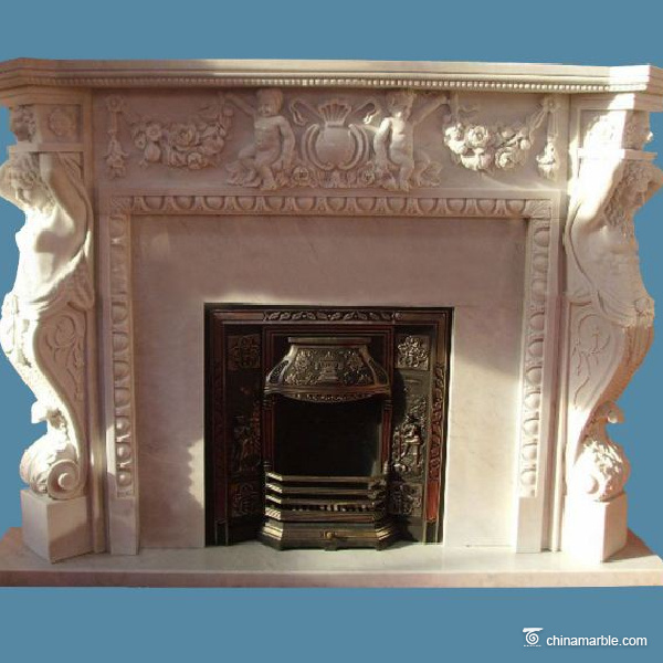 Statues Carved Mantel