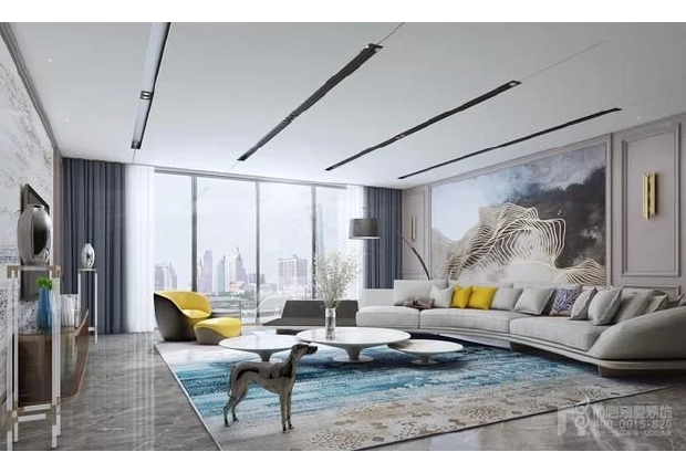 Villa living room marble decoration picture
