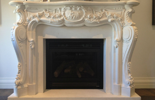 Is the fireplace in your house marble?