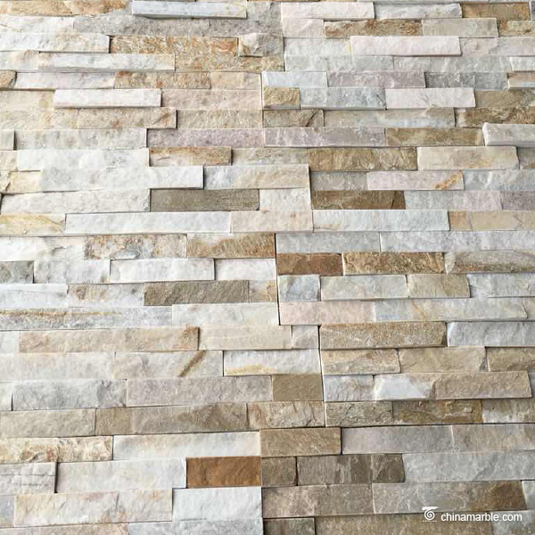 P014 Natural Split Flat Surface Ledge Panels, Cultured Stone, With Corner