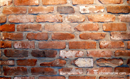 Old Reclaimed Bricks Natural Surface With Red Color