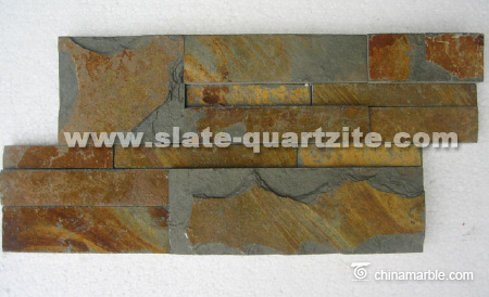 S1120 Flat Surface Cultural Stone Good Rusty Slate Panels Slate Wall Stone 35x18cm/S shape