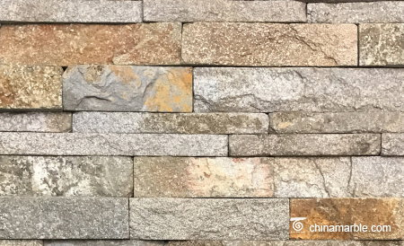 Cheap China Red Granite Ledge Stone, Stacked Wall Cladding