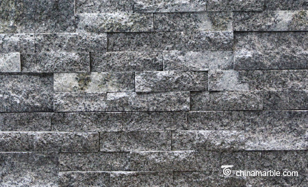White Grey Granite Culture Stone, Ledge Panel, Stacked Stone Cladding