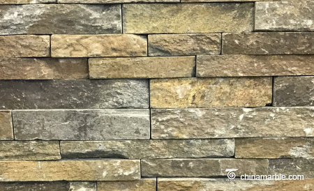 Rust Quartzite China Ledge Stone, Rock Face Stacked Wall Cladding