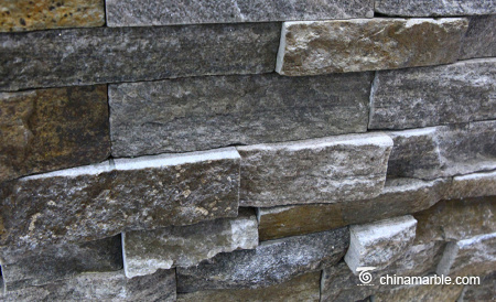 Pink/Grey Quartzite Ledge Stone, Rock Face Culture Stone Wall Cladding