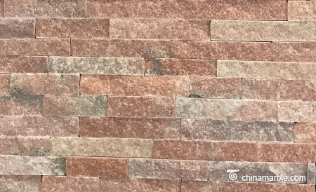 Peach Pink Quartzite Natural Stone Thin Veneer/Stone Wall Cladding Tiles/Culture Stone Natural