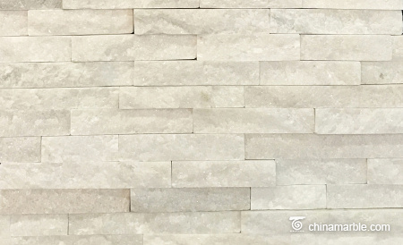 Pure White Quartzite Ledge Stone, China Stacked Wall Cladding