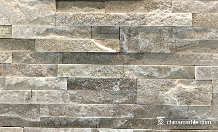 White Gold Line Quartzite Ledge Stone Panel, Stacked Wall Cladding
