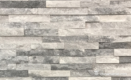 Cloudy White/Grey Quartzite Ledge Stone, China Wall Stone Cladding