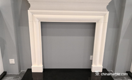 Limestone Carved Continental Mantel Fireplace Surround