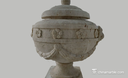 Travertine-urn-
