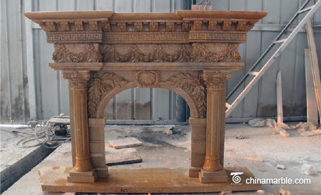 fireplace mantel limestone fireplace mantel