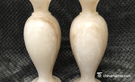 Jade vase living room decoration office decoration jade carving decoration can be customized