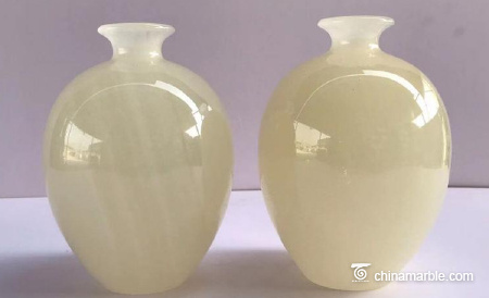 Jade vase jade living room decoration office jade carving decoration can be customized