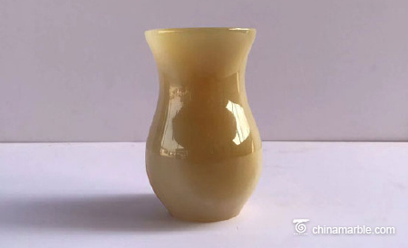 Jade vase jade pen holder bedroom decoration office jade carving decoration can be customized